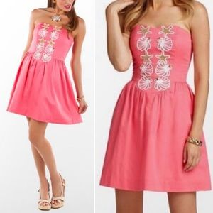 NWT Lilly Pulitzer Pink Mayfield Strapless Dress 2